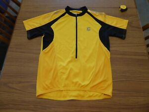 CANNONDALE USA CYCLING S/S 1/2 ZIP JERSEY MADE IN USA MEN'S Medium Yellow