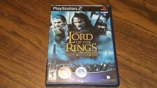 LORD OF THE RINGS TWO TOWERS  PLAYSTATION 2 PS2 Complete Ships Free!