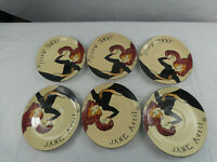 JANE AVRIL SANGO CABARET 95 #4870 OVAL PLATES SET OF 6
