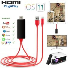 1080P 2M 8Pin to HDMI MHL TV AV Adapter Cable for iPhone 5 6 6S 7 8 Plus X iOS11