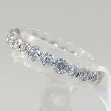 Diamond Eternity Wedding Band Ring 14k White Gold 0.79CT Size 5 Premium Quality