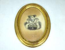 Marie Stuart GRAVURE / Stich dans cadre à 1850 signé