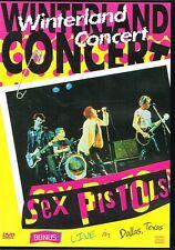 SEX PISTOLS - WINTERLAND CONCERT + LIVE IN DALLAS (1402) 105 MINS NTSC DVD