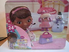 DOC MCSTUFFINS - COLLECTIBLE TIN LUNCH BOX & 24 PIECE PUZZLE
