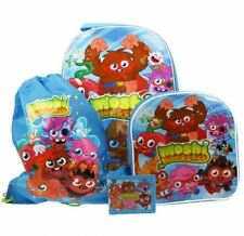Moshi Monsters 4 piezas equipaje de viaje juego bolsa con ruedas mochila cartera
