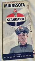 1950's Standard  Oil Indiana Vintage Road Map Transportation Travel