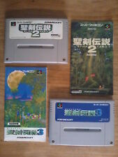 Jeux + Notices SEIKEN DENSETSU 2 & 3 (Secret Of Mana) - Super Famicom - Nintendo