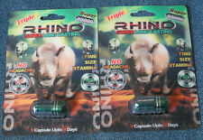 Triple RHINO Super Long Lasting 55K Male Enhancement 2 Pills