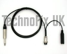 """Cable for studio mixer ¼"""" jack to 8 pin round for Kenwood transceivers"""