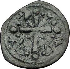 Jesus Christ Class I Anonymous Ancient 1078Ad Byzantine Follis Coin Cross i55442