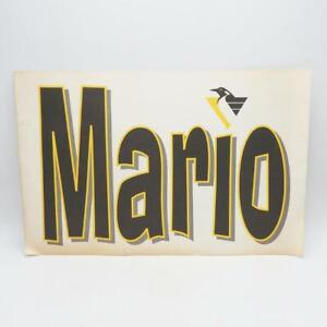 Vintage Pittsburgh Penguins Placard April 8 1997 Mario's First Retirement