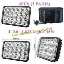 "4""X6"" LED Cree Light Bulb Clear Crystal Sealed Beam Headlight Headlamp IP68 4pcs"