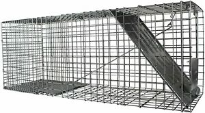 Large 1-Door Humane Animal Trap for Raccoons, Cats, Groundhogs, Opossums