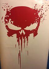 Red PUNISHER skull BLOOD vinyl decal sticker for car truck wrangler jeep