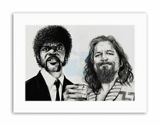 PULP FICTION Big Lebowski da W. Maguire Disegno STAMPE SU TELA ART