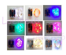 20 LED Submersible Wire String Light Battery Fairy Wedding Christmas decor 7ft