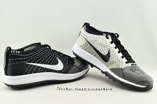 Nike Flyknit Racer Golf Shoes - CHOOSE SIZE - 909756-001 Oreo White Zoom Retro