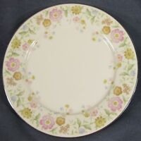 "Noritake FLIRTATION 7227 Dinner Plate 10 5/8"" Pink and Yellow Floral Rim"