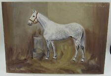 Vintage Oil on Board Painting of the Horse Nicolaus Silver by Nan Turner 1962
