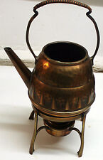 kettle spirit copper art nouveau signed teapot samovar jugendstil arts and craft