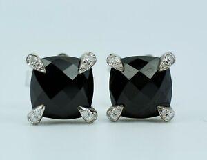 David Yurman Chatelaine Stud Earrings with Black Onyx & Diamonds