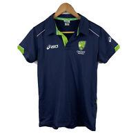 ASICS Cricket Australia Womens Polo Shirt Size Small Short Sleeve