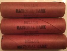 Mellon National Bank 1943 Mint Uncirculated Philadelphia Steel Wheat Penny Roll