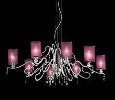 Lampadario classico di design in foglia argento e cristallo BELL delhia 2015/L8L