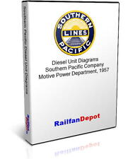 Southern Pacific Diesel Locomotive Diagrams - PDF on CD - RailfanDepot