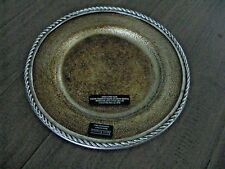 New listing Arte Italica Pewter Glass Gold Salad Plate Nwt