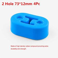 Blue 73*12mm Polyurethane Automobile Exhaust Pipe Muffler Hangers Mount Bracket