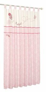 Forever Friends Tab Top Curtain Pair (Beautiful Pink)