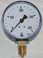 Manometer für Druckluft Klasse 2.5, 63mm Durchmesser, Anzeige  0...400 bar
