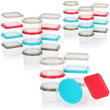 32-teiliges Vorratsdosen Set aus Kunststoff - runde Dosen und eckige Dosen