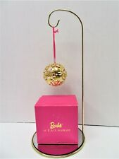 F. A. O. Schwarz 24 Kt Gold Filled Barbie Ball Christmas Ornament, New Open Box