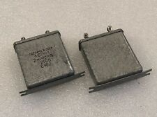 2x  2uF 250V   MBGCH-1  МБГЧ-1  Paper in OIL PIO Audio Capacitors USSR