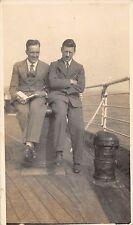 Reg and Vincent en route Canada, RP, ship, 1930s, Book list, Qr1401