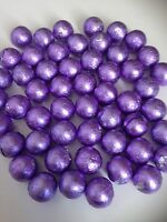 50 lilac individually wrapped solid  chocolate balls/wedding favours/ sweets