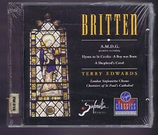 BRITTEN CD (NEW A BOY WAS BORN/ A SHEPERD'S CAROL/ HYMN TO ST CECILIA/ T.EDWARDS