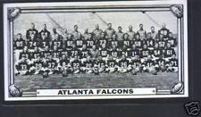 1968 Topps Test Team Football Card-Atlanta Falcons