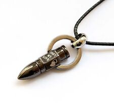 Bullet Shape Pendant Jewelry Titanium Steel Word Hearts Design