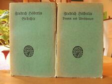 """Friedrich Hölderlin   """"Gesammelte Werke Band II und Band III""""     1921"""