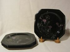 "Mikasa Color Trend DR701 ""Ebony Meadow"" Salad/Lunch Plates - Set of 4"