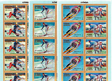 Ajman 1971 Winter Olympic, Sapporo 1972, MNH, 3 imperf. ovp sheets ROTARY #1