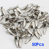 50pcs Mini Single Prong Alligator Hair Clips w/ Teeth N3