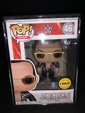 Funko Pop! #46 Wwe - The Rock (Black Jacket) Limited Chase Exclusive. W/ Stack