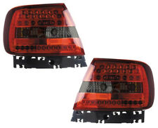 Back Rear Tail Lights Lamps Red-Black LED Pair For Audi A4 B5 11/94-9/00