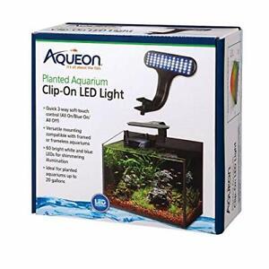 """Aqueon 100533613 Planted Aquarium Clip-On LED LightBlack8"""" x 7"""" x 4.75"""""""