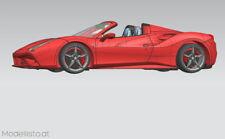 1/24 Alphamodel Ferrari 488 Spider - Highend Resine Bausatz
