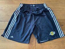 New listing Los Angeles Lakers LA Vintage Adidas Kobe Bryant Official NBA Warm Up Shorts L